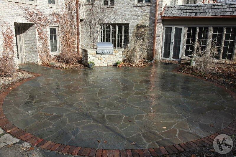 Stone Patio & Custom Outdoor Grill in Deephaven