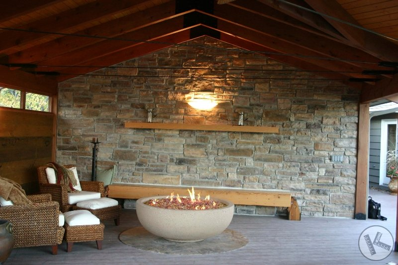 Stone Wall in Awesome Outdoor Room (Burnsville, MN)
