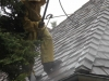 How to wash a cedar roof