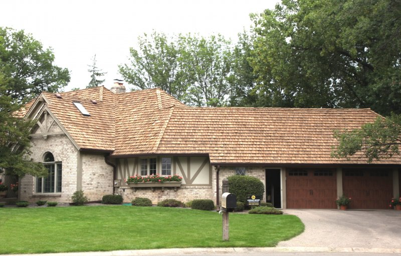 Cedar roof cleaning after KUHL in Minneapolis Wood Roof Cleaning