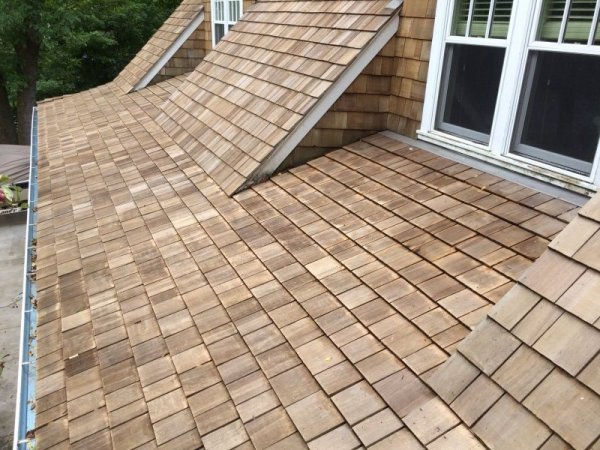 Minneapolis Cedar roof cleaning after Kuhl A
