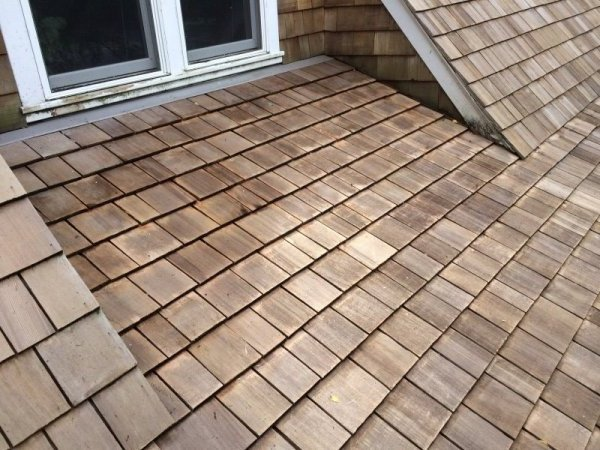 Minneapolis Cedar roof cleaning after Kuhl B