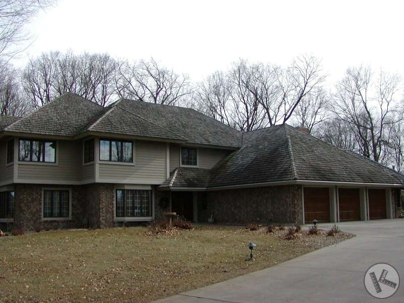 BEFORE: Applying Wood Preservative to a Cedar Roof (Edina, MN)