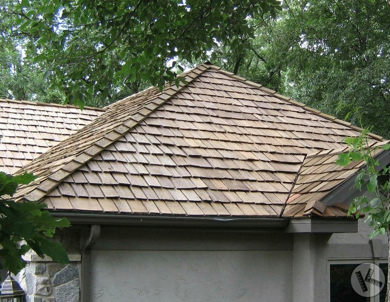AFTER: Close-up, Professional Cedar Roof Cleaning (Eden Prairie, MN)