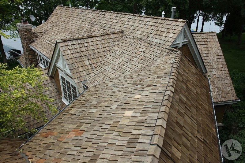 AFTER: Lake Minnetonka Cedar Roof Cleaning