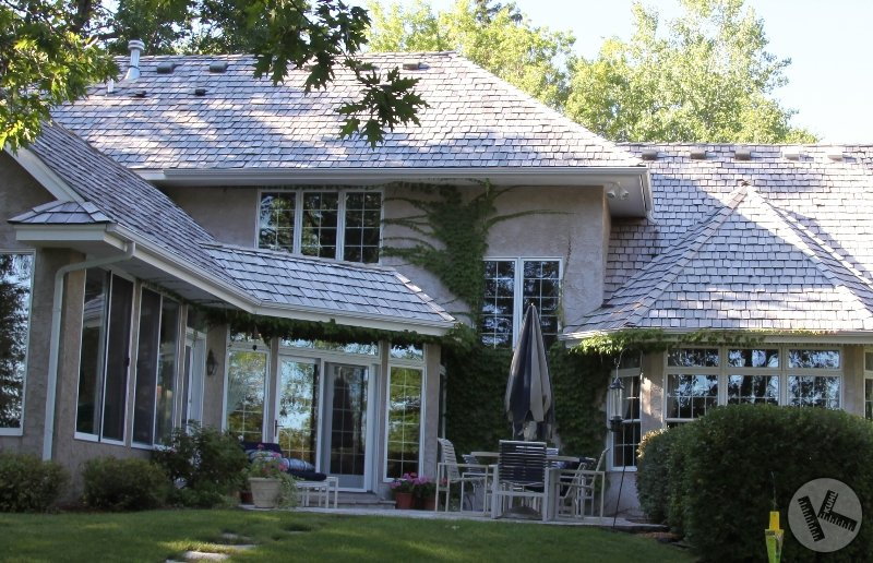 AFTER: Cedar Roof Pressure Washing on Lake Minnetonka