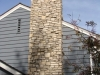 AFTER: Stone Veneer on Chimney in Edina