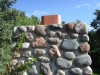 BEFORE: Close-up, Fieldstone Chimney Repair with New Flashing (Excelsior, MN)