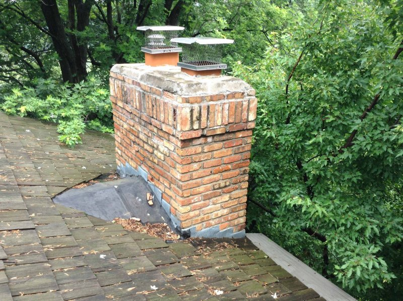 Edina chimney reconstruction by Kuhl Masonry Repair before l