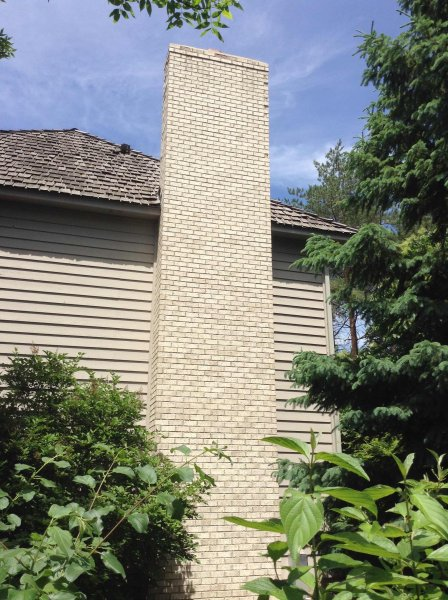 Plymouth chimney repaire before 23l Kuhl's Contracting Chimney Repair