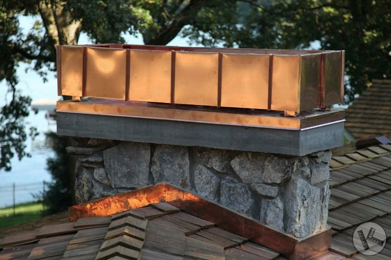 AFTER: Custom Designed Copper Chimney Cap in Medina