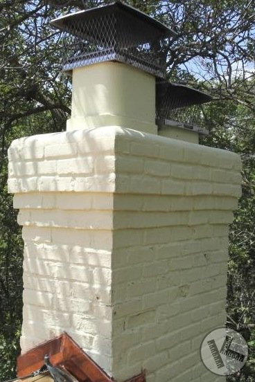 AFTER: Minneapolis Chimney Repair, Sandblasting with Painting, and Tuckpointing
