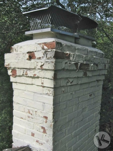 BEFORE: Minneapolis Chimney Repair, Sandblasting with Painting, and Tuckpointing