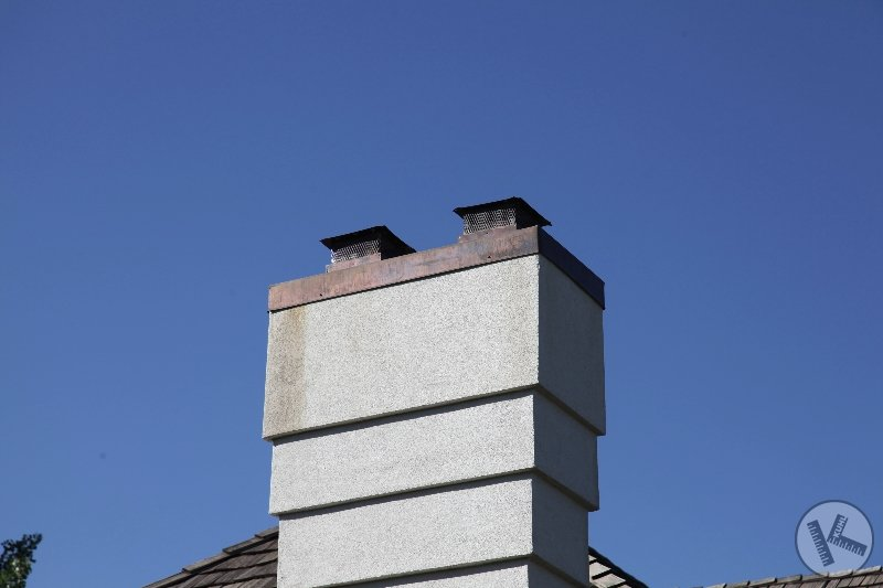 Chimney Cap replaced with Copper Sheet Metal in Wayzata
