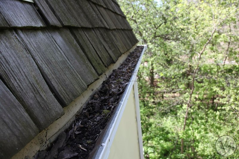 BEFORE: Custom Integrated Integral Copper Gutters in Wayzata
