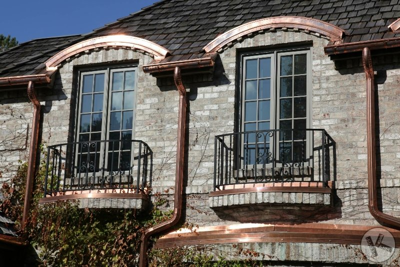 Authentic Copper Gutters on Brick Home in Minneapolis