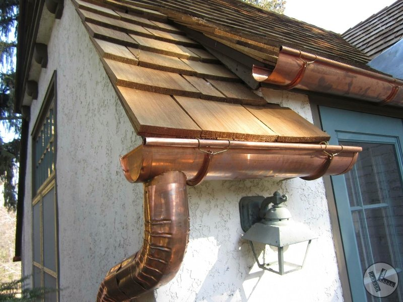 Classic Copper Gutters on Cedar Roof