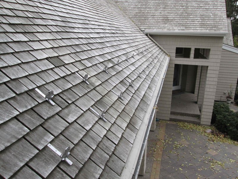 snow guards on minneapolis cedar roof snow control system kuhls contracting after