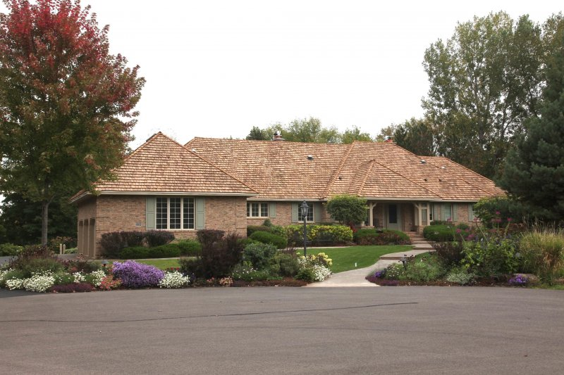 Heavy treated cedar shake roof installed in Long Lake, wayzata and orono after kuhls contracting