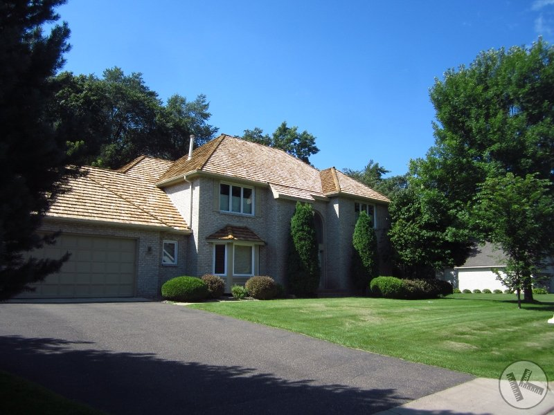 AFTER: New Cedar Shake Roof in Minnetonka