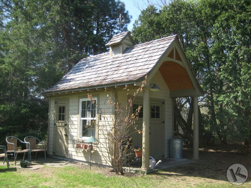 Whimsical Excelsior Minnesota Potting Shed with Cedar Roof