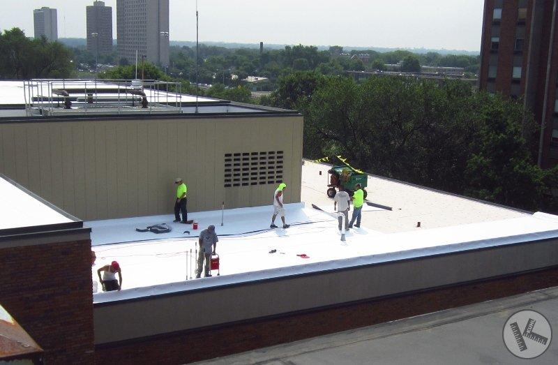 Commercial Flat Roofing Work on Minneapolis Hospital