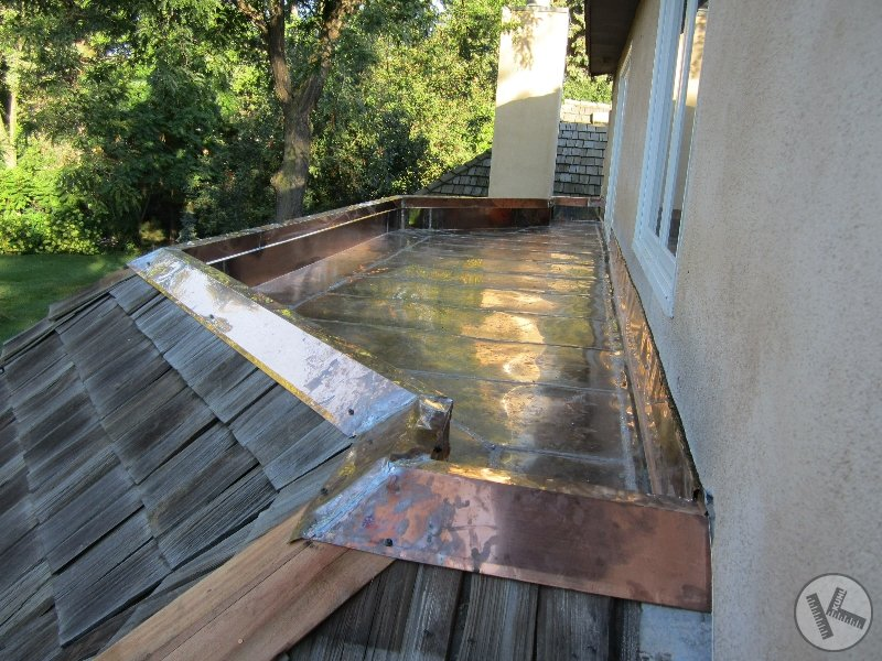 AFTER: Flat Roof Replaced with Copper in Deephaven