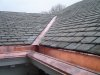 Copper Integral Gutter on Slate Roof