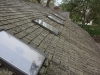 BEFORE: Skylight Replacement & Cedar Roof Washing