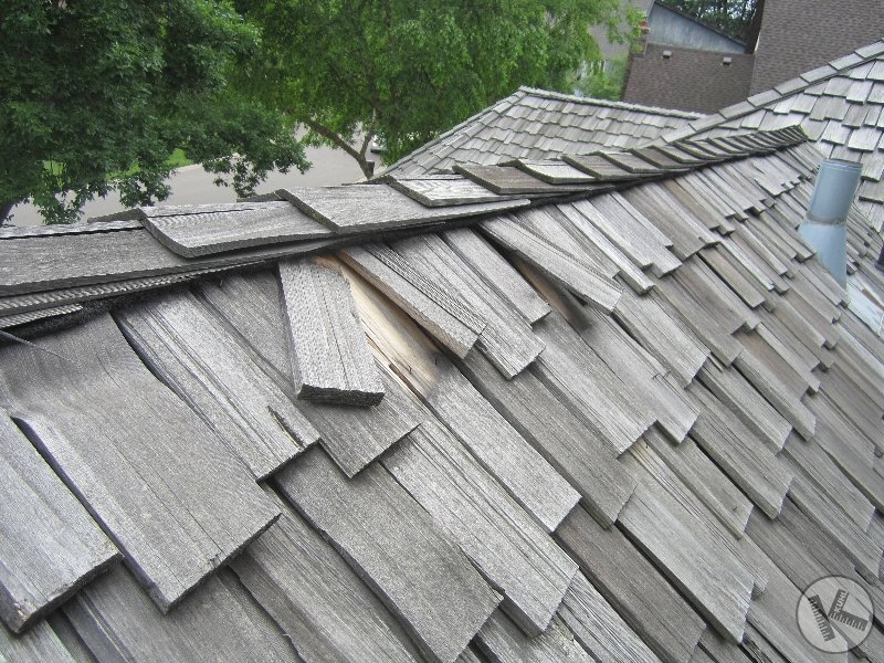 Cedar Roof Damaged in Storm (Edina, MN)