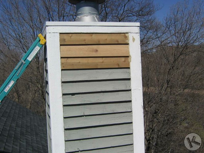 AFTER: Woodpecker Damage Repair on Chimney in Chanhassen