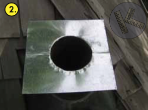 2. Fit galvanized sheet metal lid.
