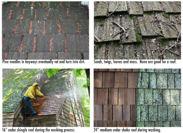 Cedar Roof Cleaning Kuhls Contracting – Lichen Removal From Roof Shingles