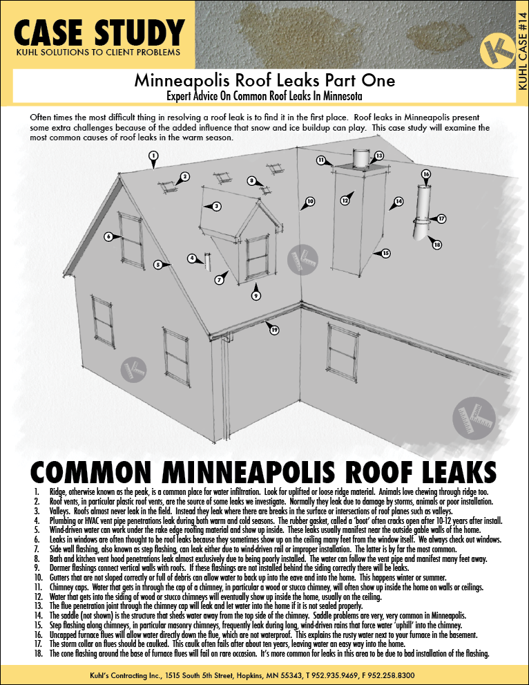 Expert Advice On Common Roof Leaks In Minnesota