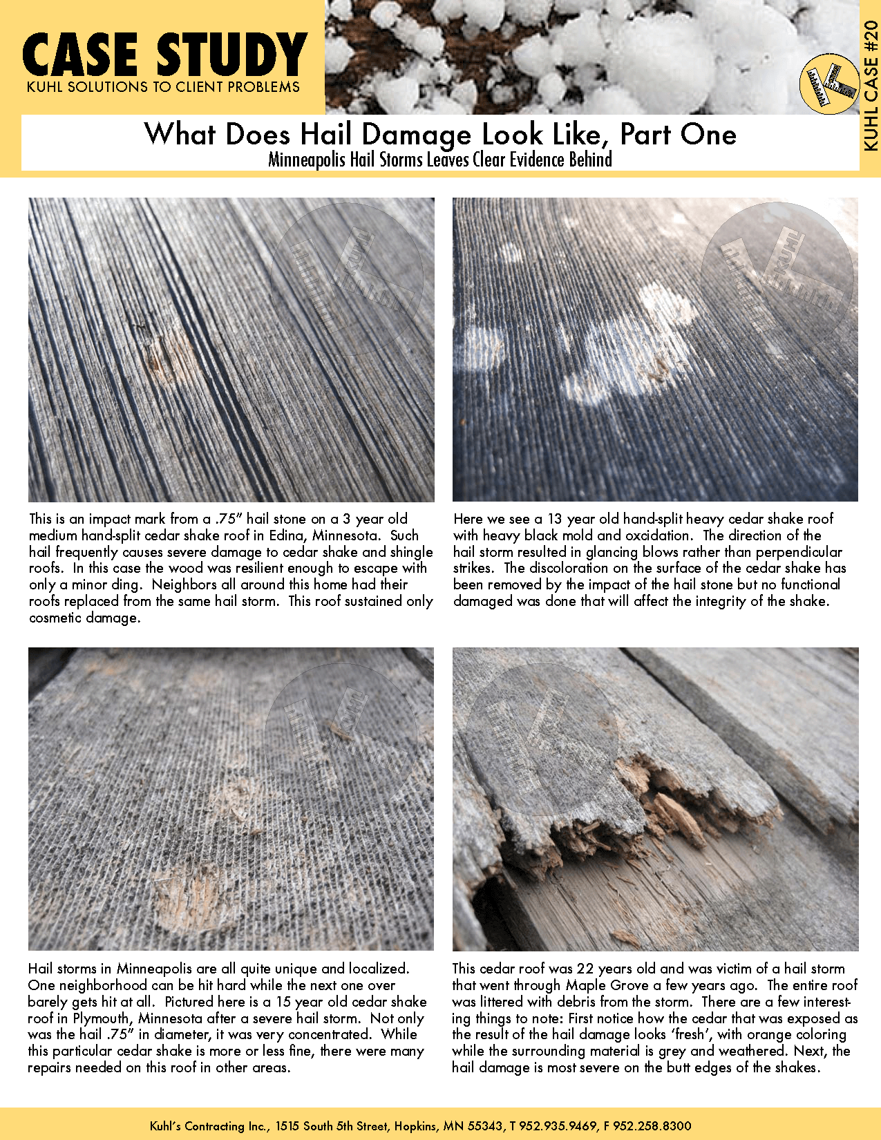 What Does Hail Damage Look Like, Part 1