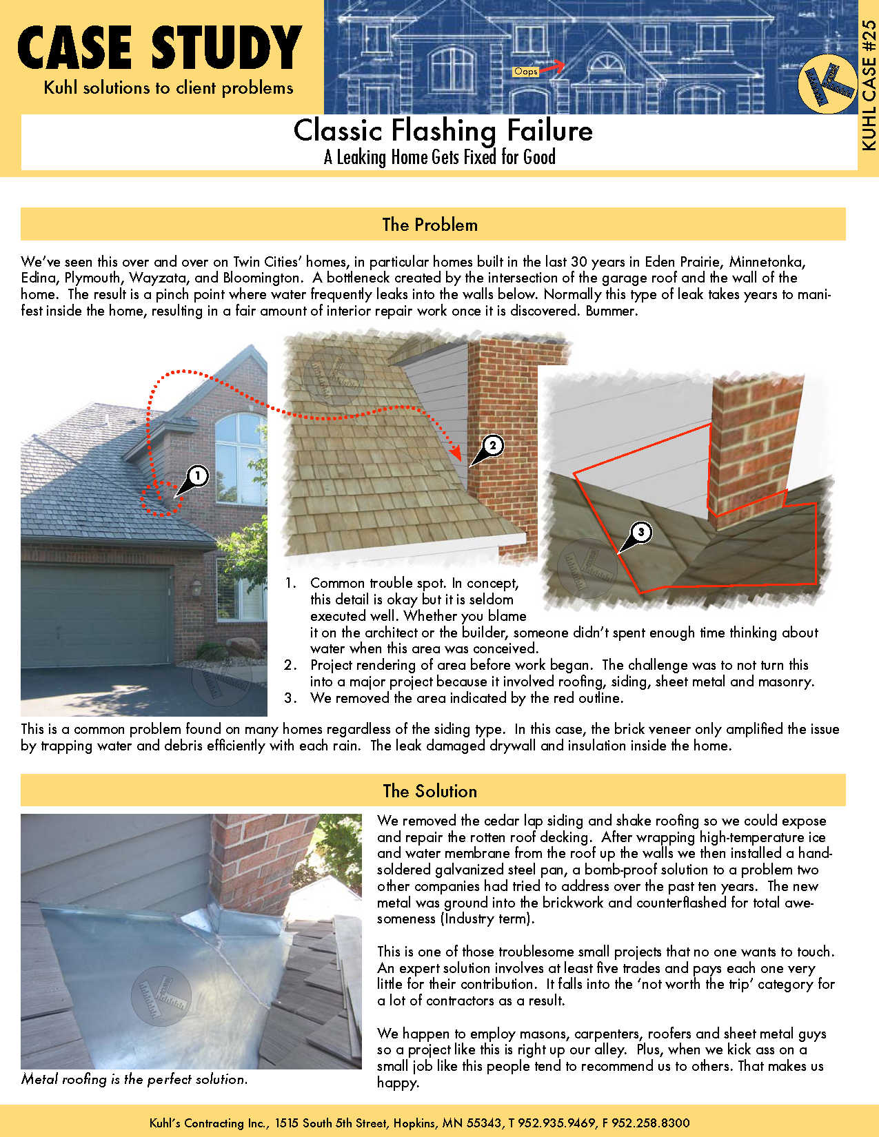 Classic Flashing Failure: Roof Flashing Experts to the Rescue