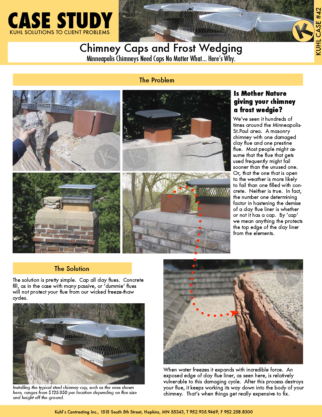 Chimney Caps & Frost Wedging: Minneapolis Chimney Repair Tips
