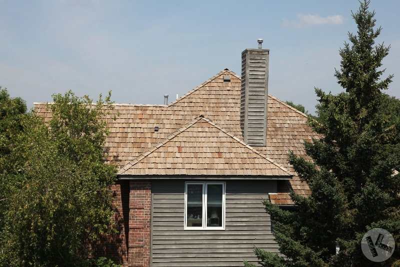 Moss Removed from Cedar Roof in Eden Prairie