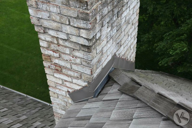 BEFORE: Leaking Chimney Fixed with Copper Flashing in Minnetonka