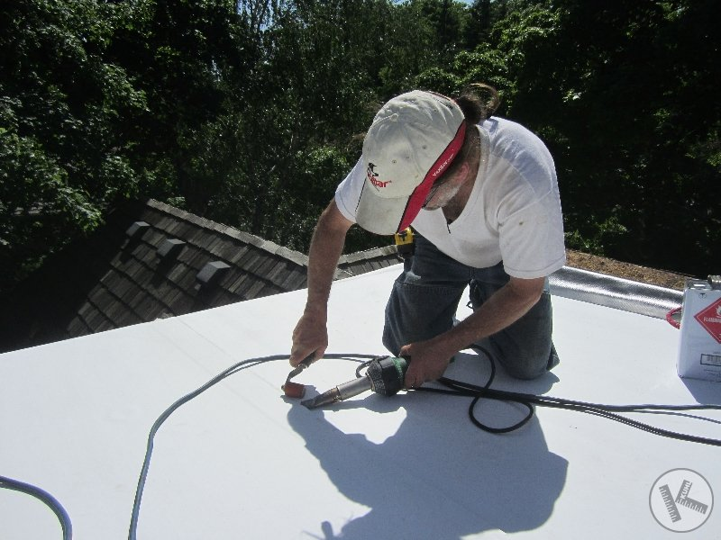 Installing TPO Roofing on Flat Roof in Wayzata