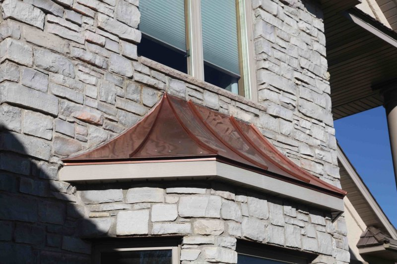 Copper bay window roof sheet metal kuhls contracting after 22