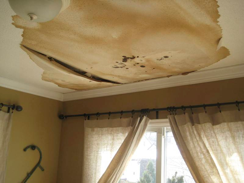 water in sheetrock damage services ceiling repair