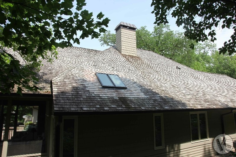 Skylight Replacement One-Year Later on Cedar Roof in Minnetonka