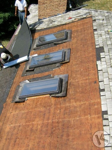 DURING: Leaking Skylight Replacement  in Golden Valley