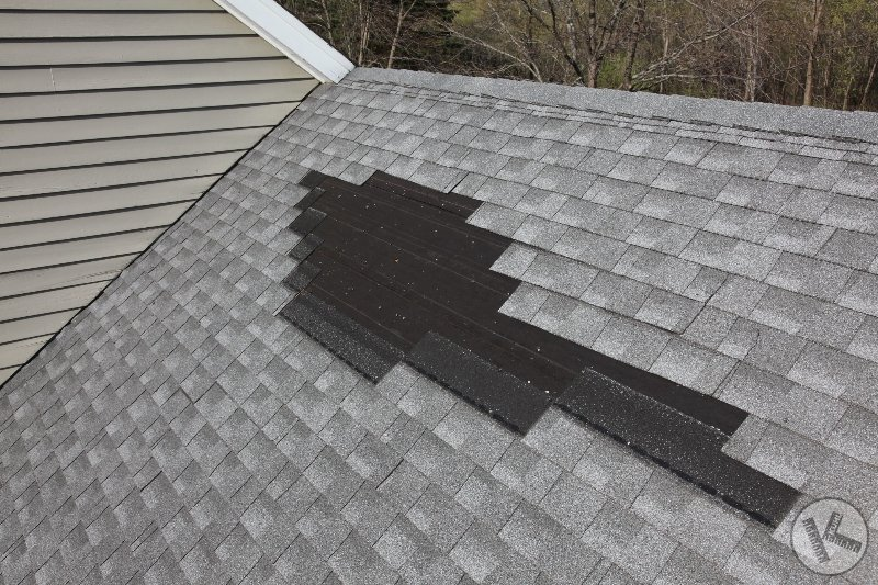 Wind Damaged Roof Repaired (Woodland, MN)