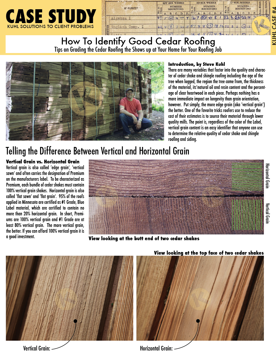 How To Identify Good Cedar Roofing