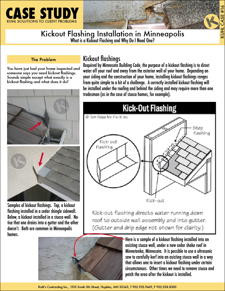 What is a Kickout Flashing and Why Do I Need One?