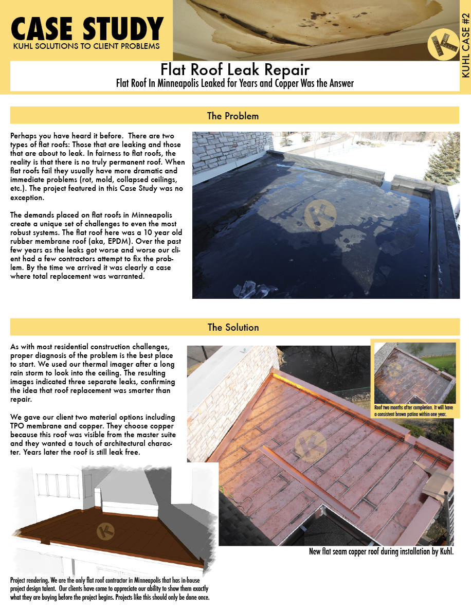 Flat Roof In Minneapolis Leaked for Years and Copper Was the Answer