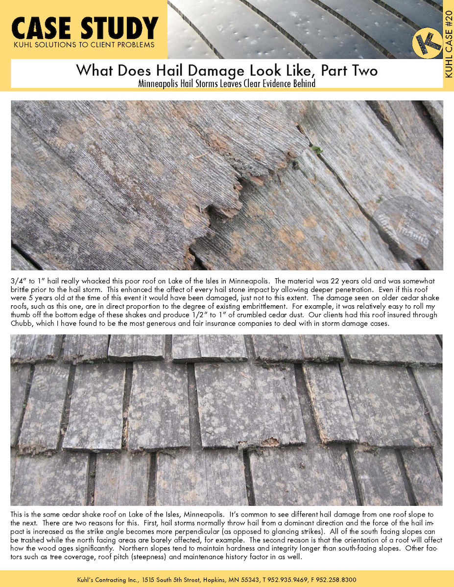 What Does Hail Damage Look Like, Part 2
