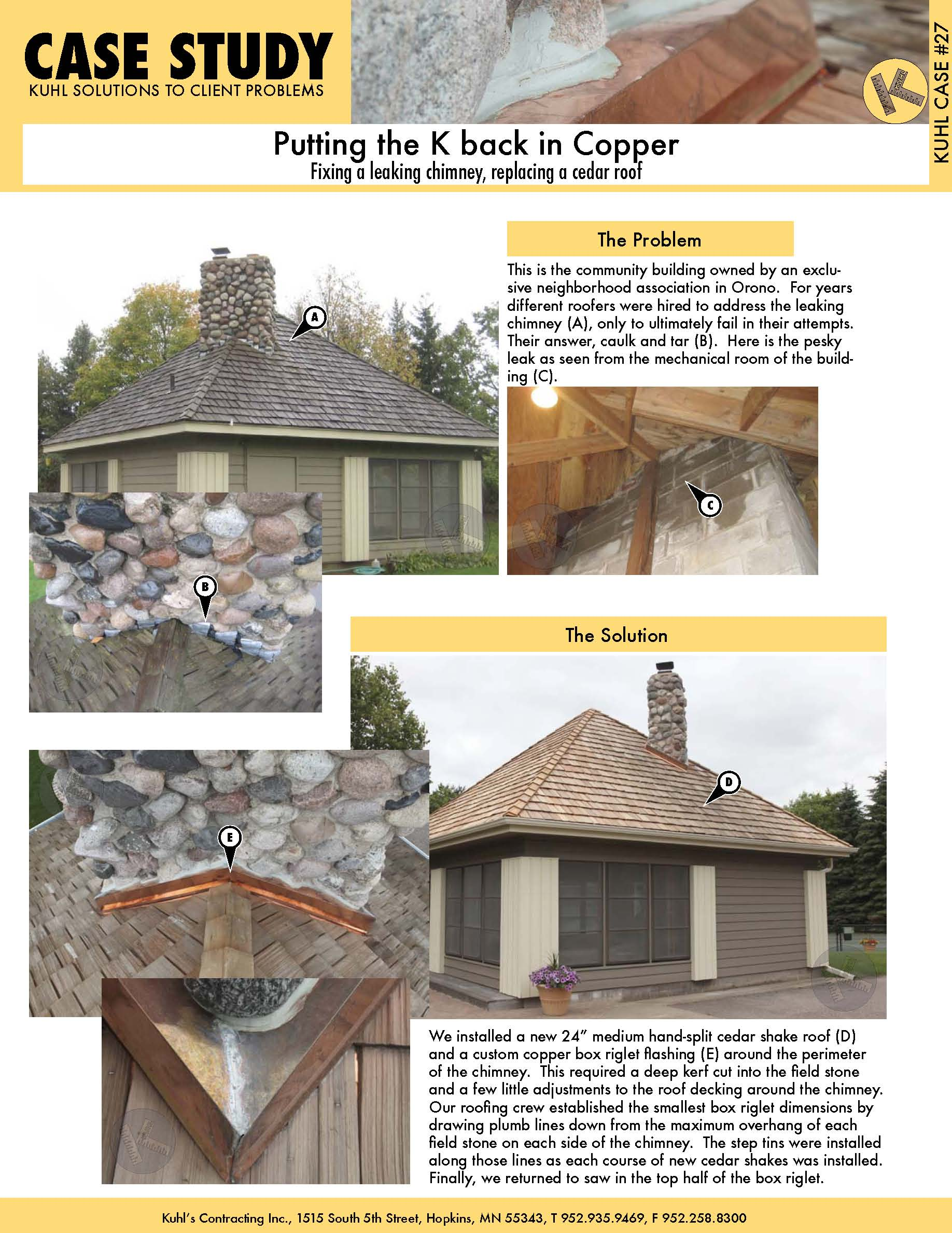 Putting the K Back in Copper: How to Fix a Leaking Stone Chimney